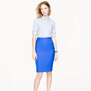 J.Crew No. 2 Pencil Skirt in Periwinkle